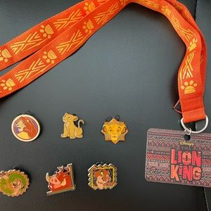 Lion king pins and lanyard